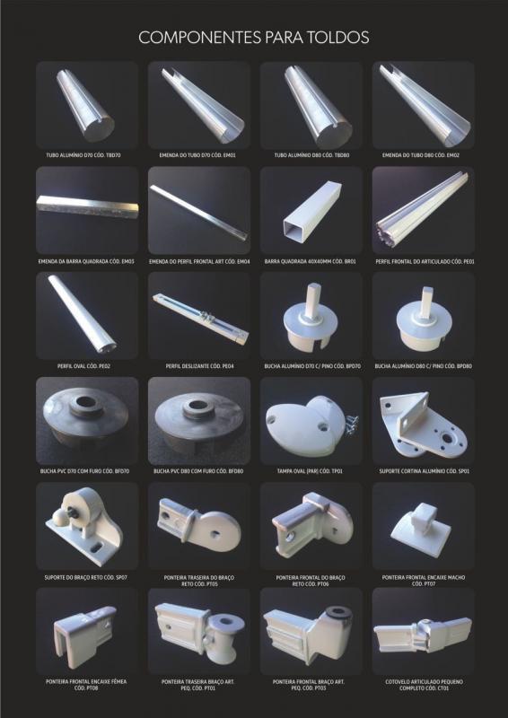 Braços articulados para toldos