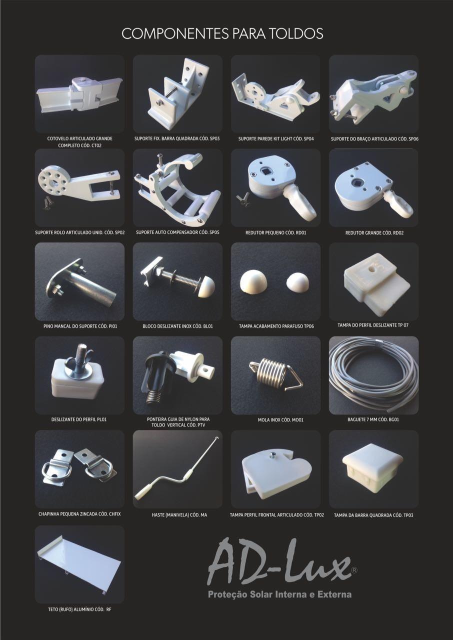 Fornecedores de peças para toldos